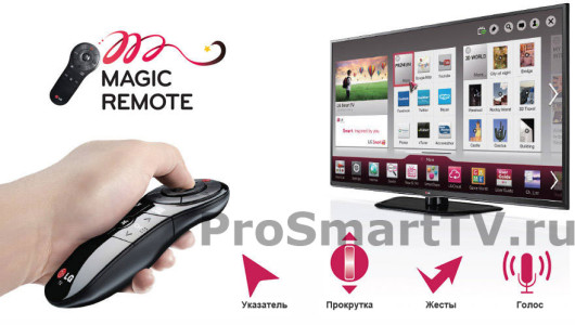 Функции LG Magic Motion