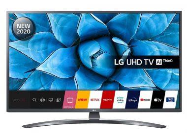 Телевизор LG 43UN74006LA Вид спереди